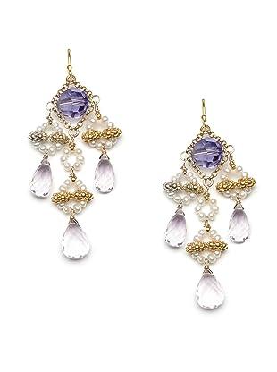 Diane Yang Lavender Chandelier Earrings