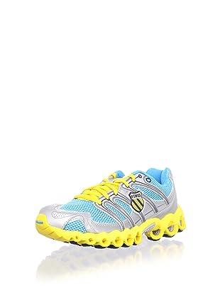 K-Swiss Women's Ultra Tubes 100 Running Shoe (Neon Blue/Silver/Bright Yellow)