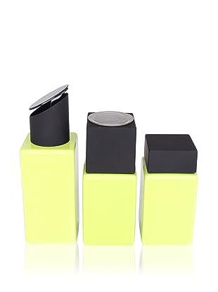 CULT DESIGN Cube Spice Jar, Grinder and Oil/Vinegar Set, Citronelle
