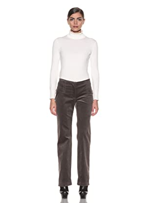 Costume National Women's Layered Waist Pants (Grey Corduroy)
