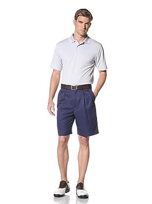 PGA Tour Men's Solid Polo (Pearl Blue)