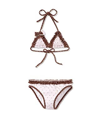 Azul Swimwear Girl's Twinkle Twinkle Little Star Triangle Bikini (Pink)