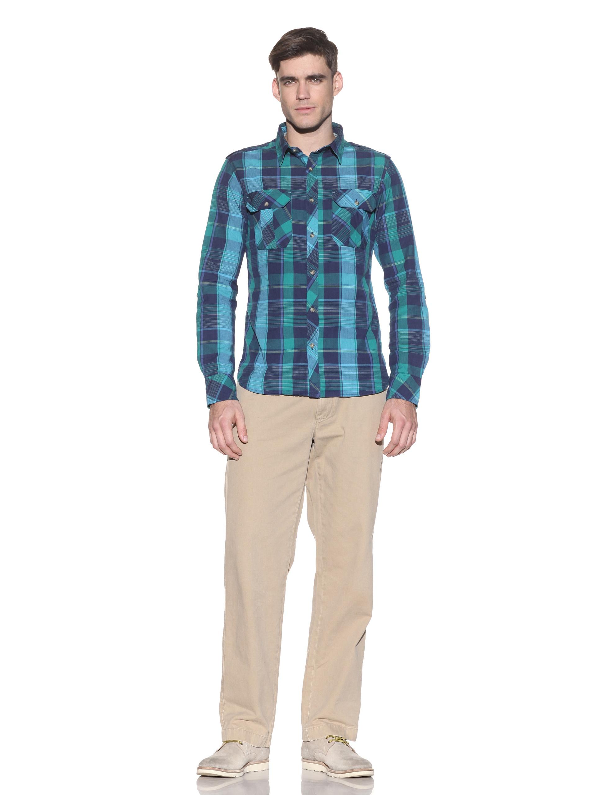 nüco Men's Plaid Button-Up (Green)