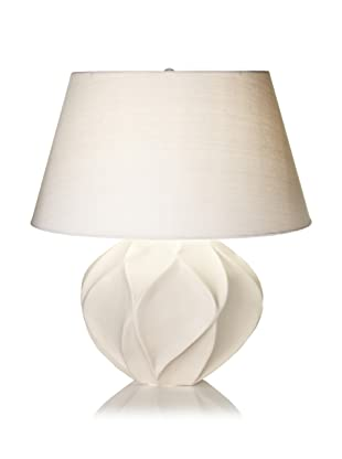 Lighting Accents Bisque Lotus Ceramic Table Lamp (Taupe)