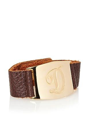 Lisa Stewart Gold D Initial Cuff Bracelet