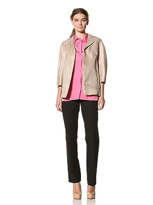 MARNI Women's Half Sleeve Notch Collar Jacket (Oat)