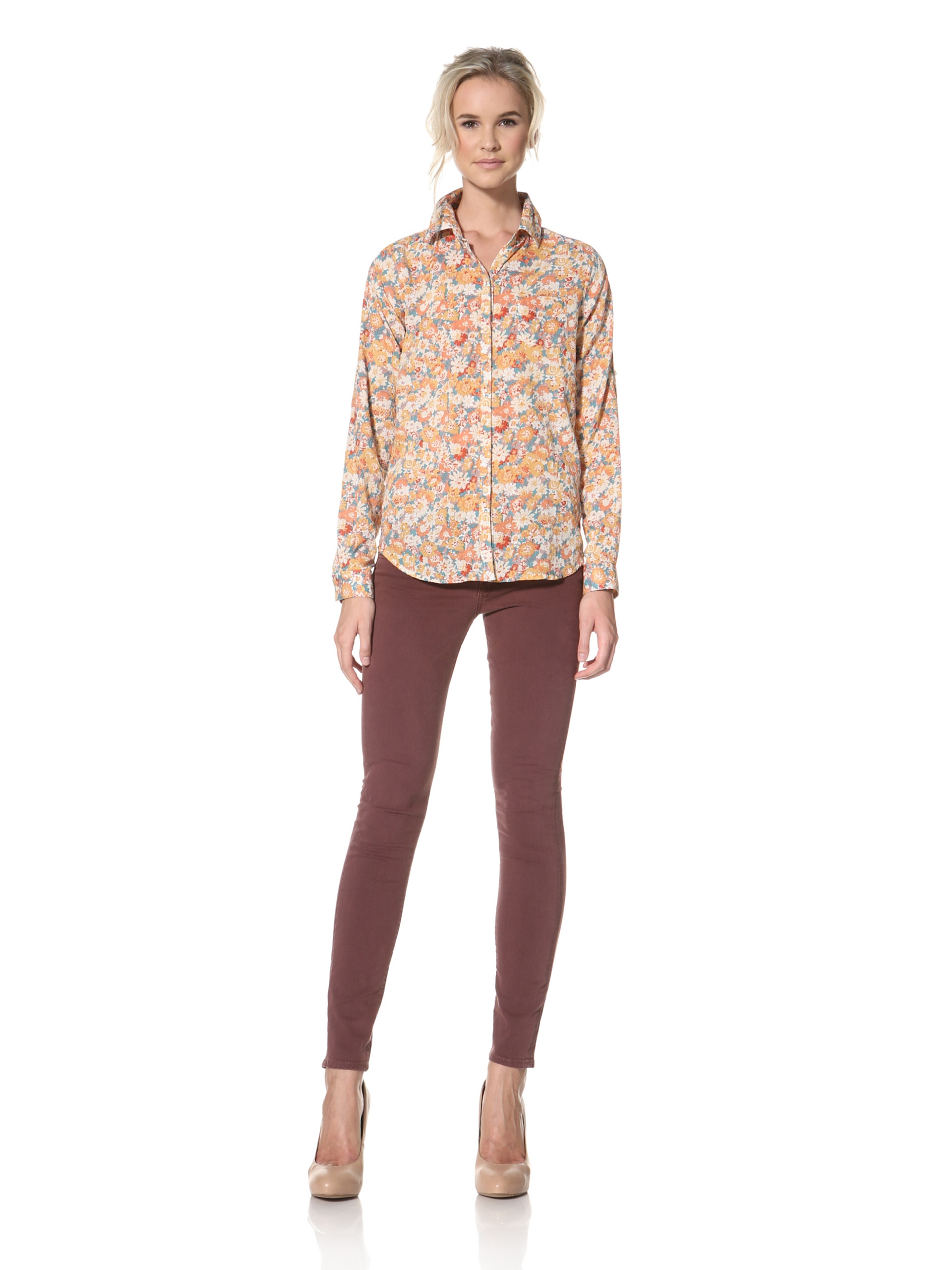 Trovata Women's Amalie Button Front Shirt (Floral Multi)
