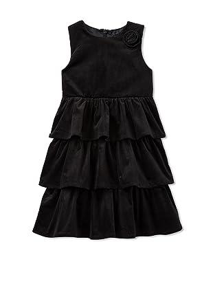 Velvet & Tweed Girl's Sleeveless Tiers Dress (Black)