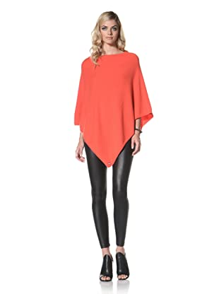 +Beryll Women's Cashmere Poncho (Coral)