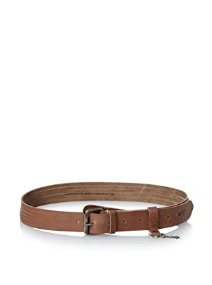 +Beryll Men's Leather 6-Strand Belt (Antique Brown)