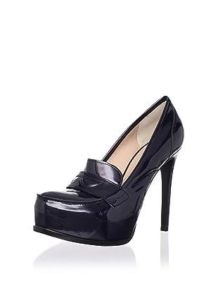 Pour La Victoire Women's Larkin Loafer Pump (Midnight Patent)