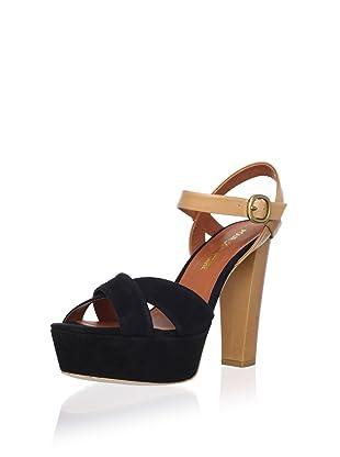 Pour La Victoire Women's Neysa Platform Sandal (Black)