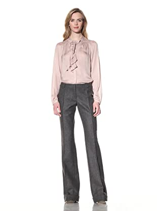ALTUZARRA Women's Cuffed Wool Trousers (Grey)