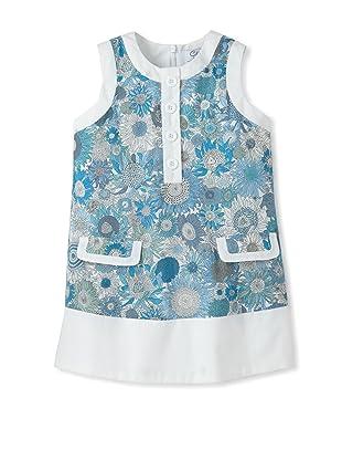 Baby CZ Girl's Chanel Sleeveless Dress (Small Suzanna Blue)