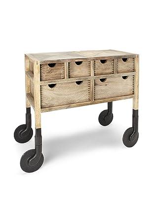AKMD Mango Wood Rolling Dresser (French Country Gray)