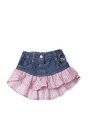 Le Petit Pumm Girl's Denim Skirt with Ruffles (Indigo)