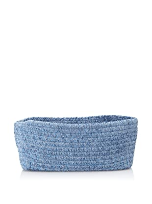 Colonial Mills Indoor/Outdoor Spring Meadow Chenille-Soft Rectangle Storage Basket (Petal Blue)