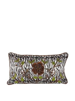 John-Richard Collection Hand-Embroidered and Beaded Safari Print Velvet Pillow, 13