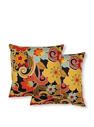 Dakota Set of 2 Zavalia Pillows (Black)