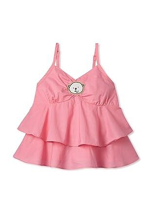 Le Petit Pumm Girl's Babydoll Tank (Pink)