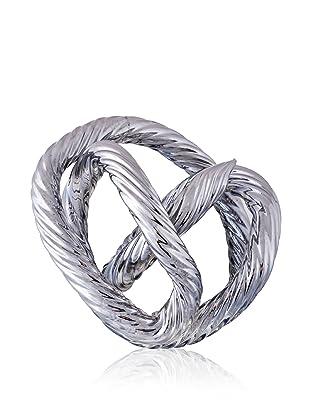 Viz Art Glass Infinity Sculpture (Silver)