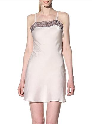 Toute la Nuit Women's Short Slip Nightie (Ivory/Grey)