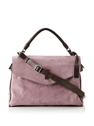 Gryson Women's Cybelle Belted Large Top Handle Messenger (Purple Calf)