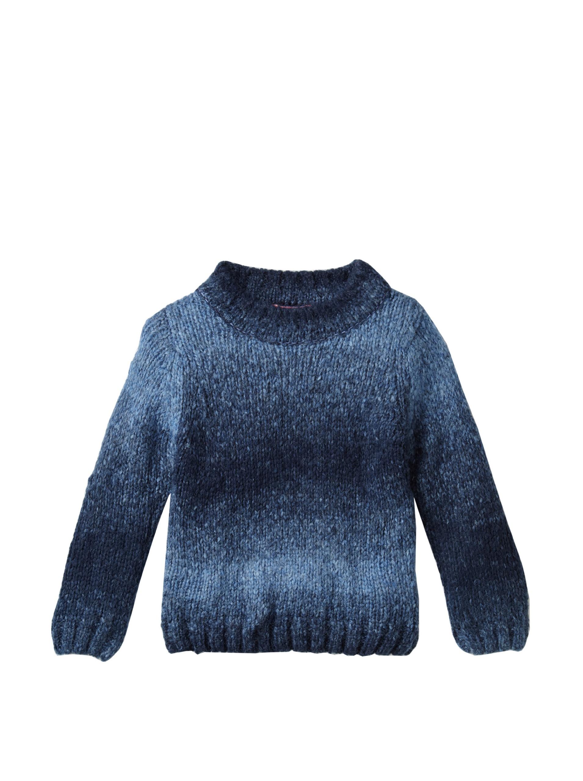 One Kid Boy's Ombre Sweater (Blue)