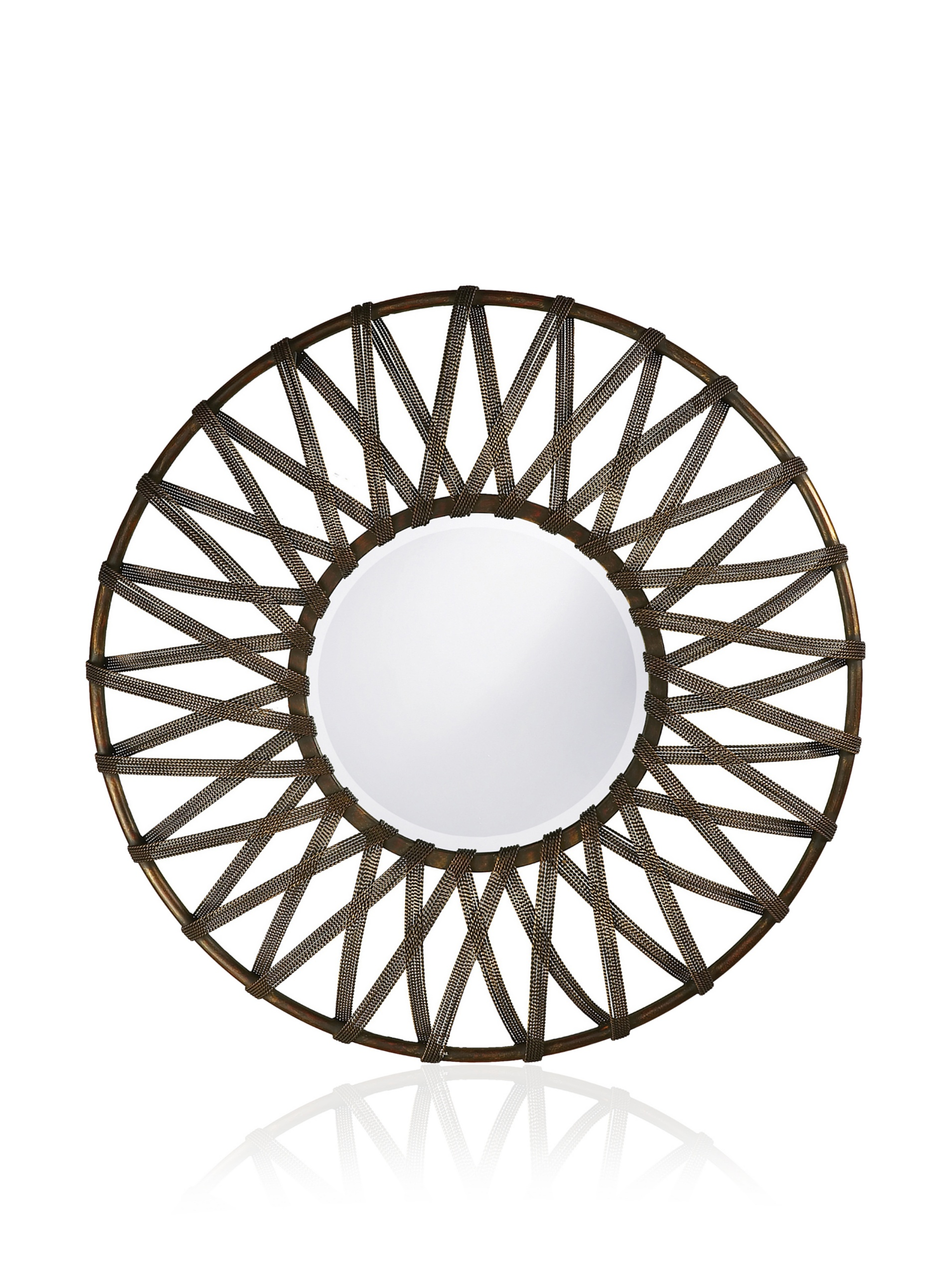 Lucy Mirror, Antique Silver/Black