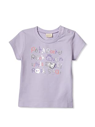 Le Petit Pumm Girl's Little Rocker Short Sleeve Tee (Violet)