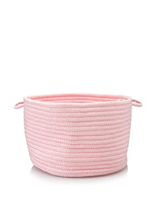 Colonial Mills Indoor/Outdoor Simply Solid Storage Basket (Light Pink)