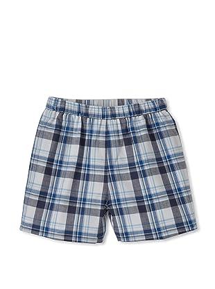 Baby CZ Boy's Madras Shorts (Navy/Ocean Madras)