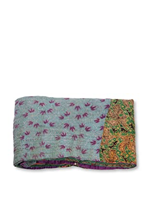 Mili Designs NYC One of a Kind Vintage Kantha Throw, #154