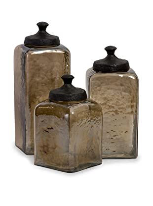 Imax Square Brown Luster Canisters