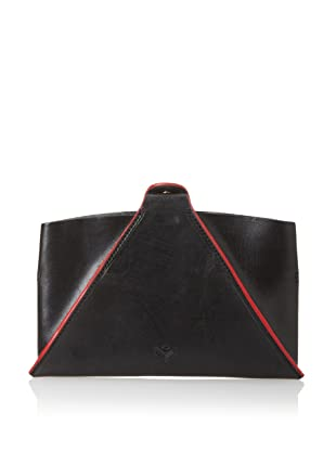 J.Fold Unisex Pop-Up Kindle Fire Sleeve & Stand (Black with Red Trim)