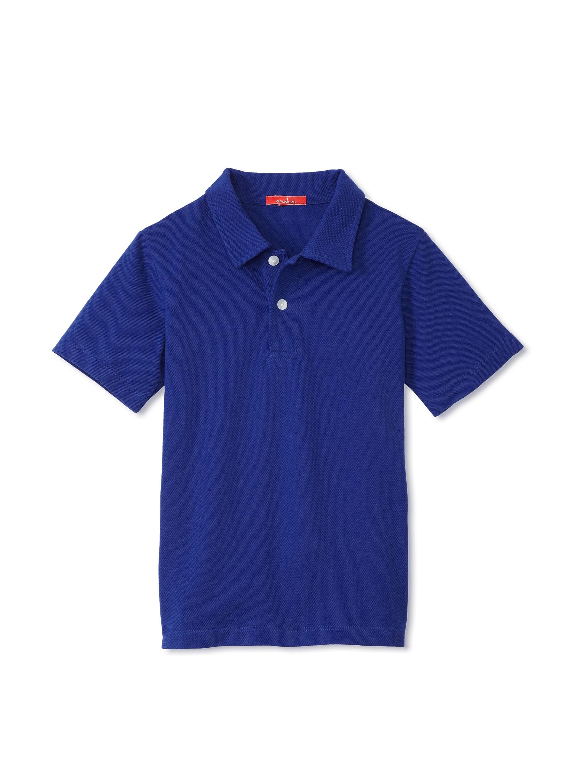 One Kid Boy's Polo Shirt (Cadet)