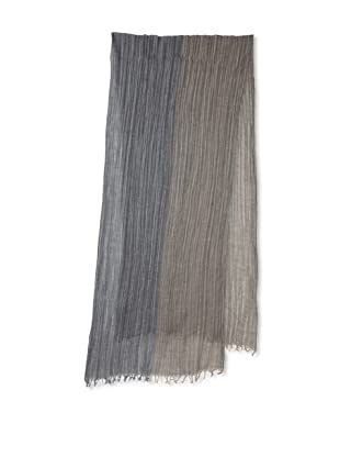 Amicale Men's Variegated Stripe Scarf (Taupe/Cream)