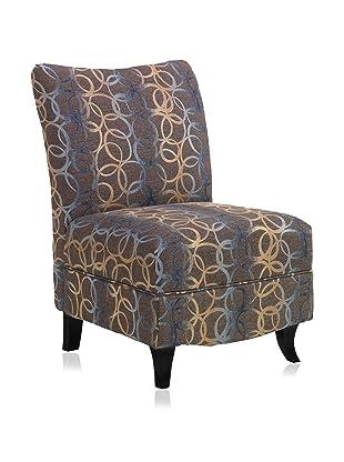 Armen Living Malibu Chair, Blue Multi