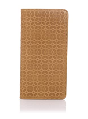 Hlaska Artifacts Women's Embossed Slim Check Wallet (Camel)