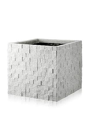 DKLiving Large Square Faux Granite Planter, Grey