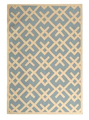 Safavieh Dhurrie Ikat Rug (Light Blue/Ivory)