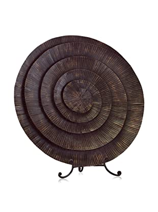 John-Richard Collection Hand-Forged Charger with Metal Strips