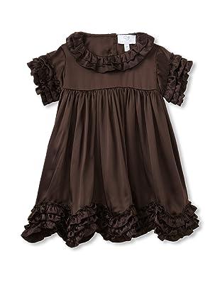 Baby CZ Girl's Chloe Ruffle-Trimmed Dress (Chocolate)