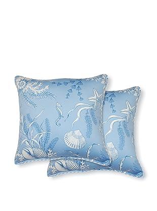 Dakota Set of 2 By the Sea Pillows (Blue)