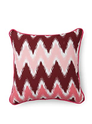 Room Service Chevron Pillow (Pink/White)