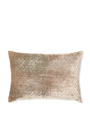 Kevin O'Brien Studio Petal Flower Velvet Pillow, Antique, 14