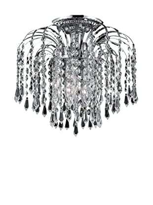 Crystal Lighting Falls Flush Mount Ceiling Fixture (Chrome/Crystal)