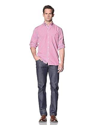 GANT Men's The Gingham Shirt (Royal Pink)