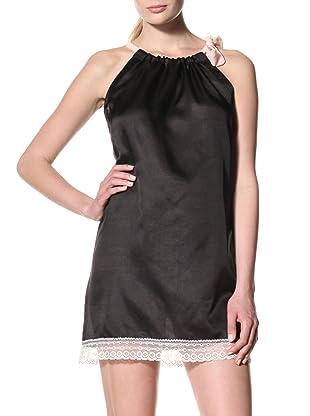 Toute la Nuit Women's Tie Nightie (Black/Blush)