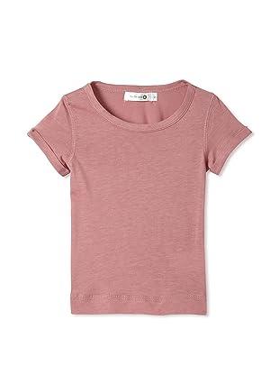 TroiZenfants Girl's Short Sleeve Tee (Pink)